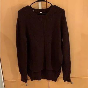 Lululemon Maroon Knit Sweater Size 8